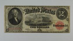 1917 $2.00 Legal Tender Issue Note Large Size Horseblanket Note