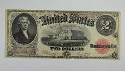 Series 1917 $2.00 Legal Tender Issue Note Large Size Horseblanket Note