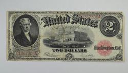 Series 1917 $2.00 Legal Tender Issue Note Large Horseblanket Note