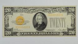 Series 1928 $20.00 Gold Certificate
