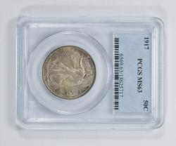 MS63 1917 Walking Liberty Half Dollar - PCGS Graded