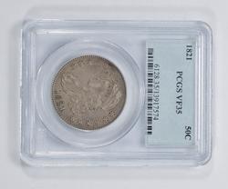 VF35 1821 Capped Bust Half Dollar - PCGS Graded