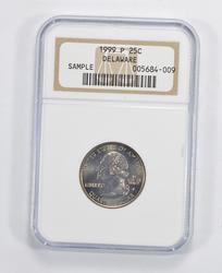 Sample 1999-P Delaware State Quarter - NGC Graded