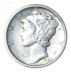 1920-D Mercury Silver Dime - Circulated