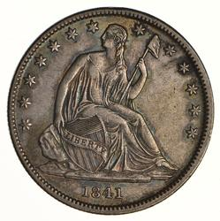 1841-O Seated Liberty Half Dollar - Circulated