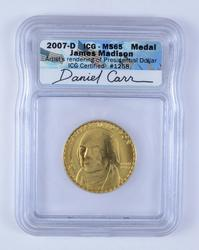 MS65 2007-D James Madison Medal - ICG Graded