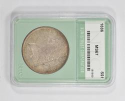 MS67 1886 Morgan Silver Dollar - NTC Graded