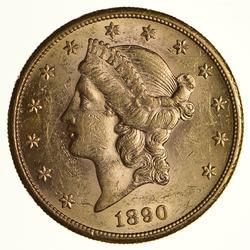 1890-S $20 Liberty Head Gold Double Eagle - Choice