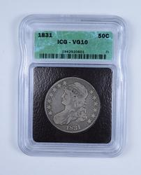 VG10 1831 Capped Bust Half Dollar - Graded by ICG