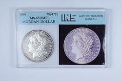 MS65 DMPL 1886 Morgan Silver Dollar - Graded INS