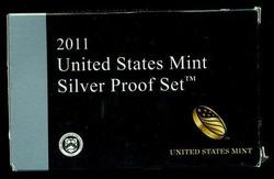 Scarce 2011 14-pc Silver Proof Set. Box/COA