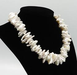 Pearl Necklace in Sterling Silver