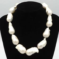 South Sea Pearl Necklace in Sterling Silver