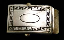 Vintage Nickel Silver Belt Buckle