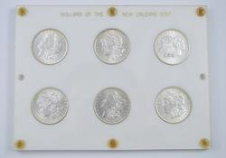 Dollars of the New Orleans Mint - 6 Coins - Morgan Silver Dollars
