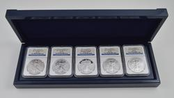 GRADED PF-70 MS 2011 American Eagle 25th Anniversary Silver Coin Set