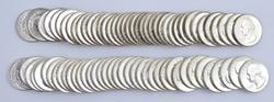 2 BU Rolls Washington Quarters 1960 & 1963 90% Silver