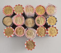 400 Coins Total - (16) $25.00 Presidential Dollars Roll of 25 Coins