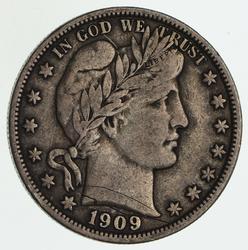 1909 Barber Half Dollar - Circulated
