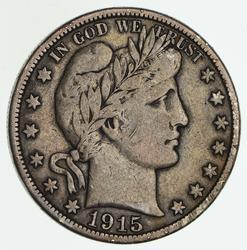 1915-D Barber Half Dollar - Circulated