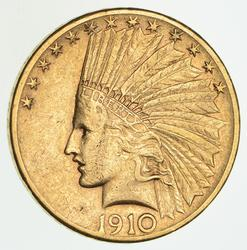 1910-S $10.00 Indian Head Gold Eagle - Circulated