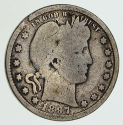 1897-S Barber Quarter - Circulated