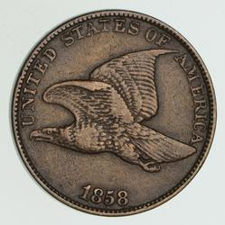 1858 Flying Eagle Cent - Circulated