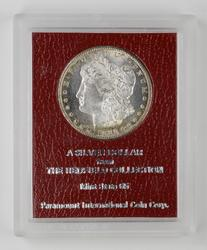 MS65 1880-s Morgan Silver Dollar - Redfield Collection - PICC Graded