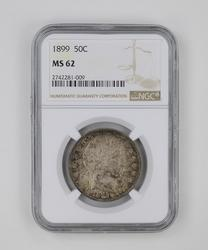 MS62 1899 Barber Half Dollar - NGC Graded