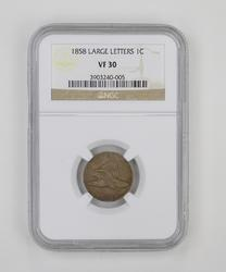 VF30 1858 Flying Eagle Cent - Large Letters - NGC Graded