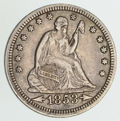 1853 Seated Liberty Quarter - Circulated
