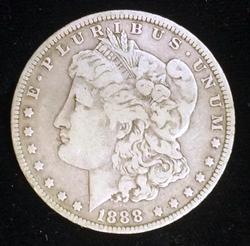 1888-O HOT LIPS Morgan Silver Dollar Circulated