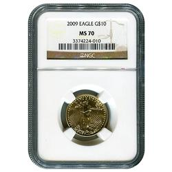 Certified 1/4oz Gold Eagle 2009 MS70 NGC