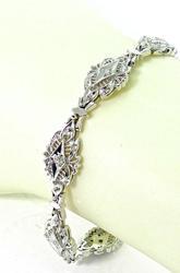 Exquisite 14K White Gold and Diamond Bracelet
