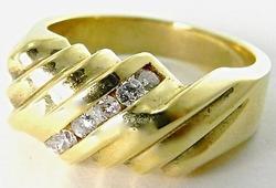 Classic Gents 14K Gold & Diamond Ring