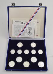 1984 XXII Summer Olympics & XIV Winter Olympics 12 Silver Coins Set