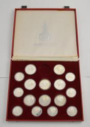 1980 Moscow Olympics (8) 10 Rouble Silver Coins (8) 5 Rouble Silver Coins