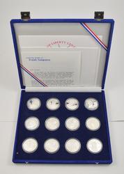 12 Silver Coins 1986 Statue of Liberty Centennial w/ COA & Box