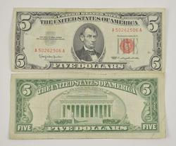 440 ($2,200) Series 1963 $5.00 Red Seal US Bank Note