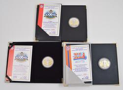 (2) Superbowl XXXVII & (1) Superbowl XLI Limited Edition 2-Tone Flip Coin