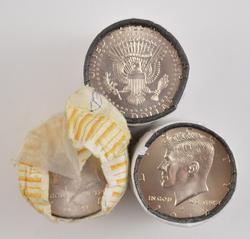 3 Rolls $30.00 90 Kennedy Half Dollars 2012-P/-D & 1984-P Uncirculated