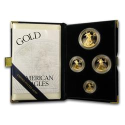 2003 4pc Proof Gold Eagle Set w/Box & Cert