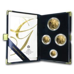 2004 4pc Proof Gold Eagle Set w/Box & Cert