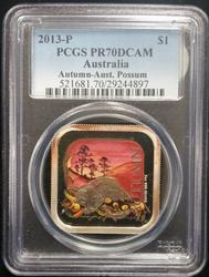 2013P Australia Seasons - Autumn PCGS PR70CAM Colorized