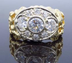 Incredible Nugget Style 1.43CTW Diamond Ring
