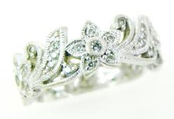 Tacori Sterling Ring with Pave CZ's