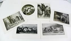 6 Antique Perry Pictures, Horse Prints