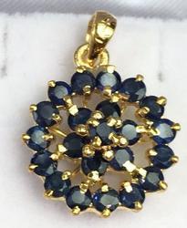 14kt Yellow Gold Natural Sapphire Pendant