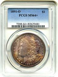 MS64+ Toned 1891-O Morgan $, PCGS