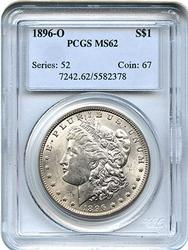 1896-O MS62 Morgan Dollar. PCGS